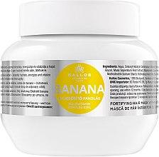 Parfumuri și produse cosmetice Mască pentru întărirea părului cu extract de banane - Kallos Cosmetics Banana Mask