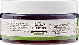 """Parfumuri și produse cosmetice Scrub corp zahăr sare merișor """"Argan și smochine"""" - Green Pharmacy"""