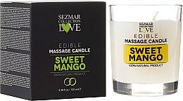 """Parfumuri și produse cosmetice Lumânare naturală pentru masaj """"Mango"""" - Hristina Cosmetics Sezmar Collection"""