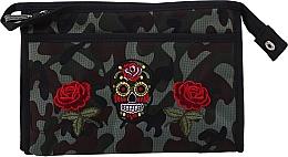 """Духи, Парфюмерия, косметика Косметичка """"Camouflage"""", 95917, розы и череп - Top Choice"""