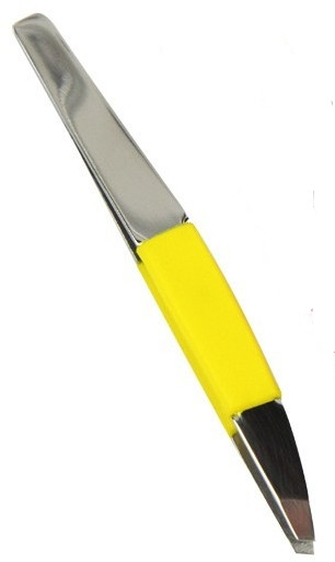"Pensetă ""Neon Chic"", 4107, galbenă - Donegal Slant Tip Tweezers — Imagine N1"