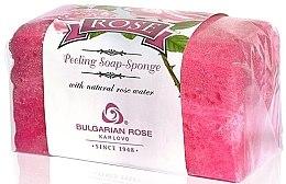 Parfumuri și produse cosmetice Peeling-burete de săpun pentru corp - Bulgarian Rose Peeling Soap-Sponge