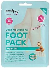 Духи, Парфюмерия, косметика Смягчающая маска-носочки для ног - Derma V10 Foot Mask Argan Oil