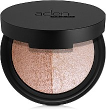 Parfumuri și produse cosmetice Paletă de nuanțe pentru machiaj - Aden Cosmetics Highlighter & Bronzer Duo