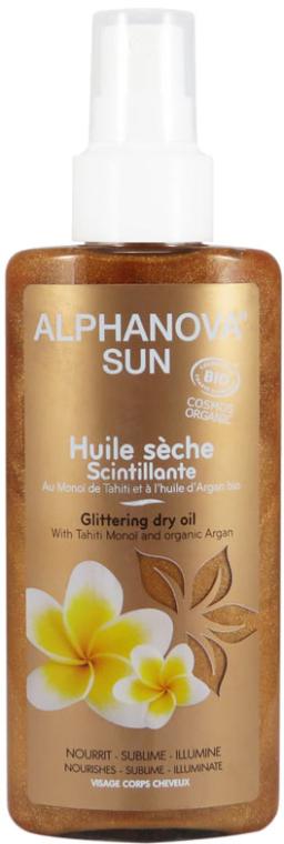 Ulei pentru bronz - Alphanova Sun Oil Dry Sparkling — Imagine N1