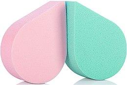 Parfumuri și produse cosmetice Burete de machiaj, 35814, verde + roz - Top Choice