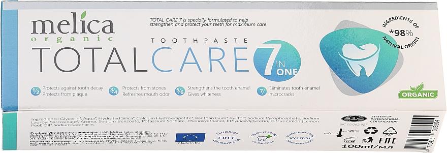 """Pastă de dinți """"Îngrijire complexă"""" - Melica Organic Toothpaste Total Care 7"""