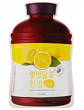"""Parfumuri și produse cosmetice Mască de față """"Lămâie"""" - A'Pieu Fruit Vinegar Sheet Mask Lemon"""