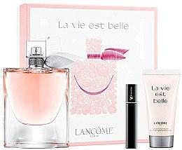 Parfumuri și produse cosmetice Lancome La Vie Est Belle - Set (edp/100ml + b/lot/50ml+mascara/2ml)