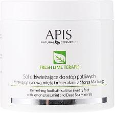 Духи, Парфюмерия, косметика Освежающая солевая ванна для ног - APIS Professional Fresh Lime Terapis Refreshing Footbath Salt