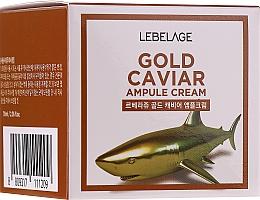Parfumuri și produse cosmetice Cremă de întinerire cu extract de aur și caviar - Lebelage Ampoule Cream Gold Caviar