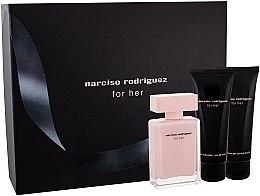 Narciso Rodriguez For Her - Set (edt/50ml + b/lot/75ml + sh/gel 75ml) — Imagine N3