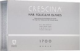 Parfumuri și produse cosmetice Complex tratament împotriva căderii părului, pentru femei - Crescina Hair Follicular IslandRe-Growth+Anti-Hair Loss HFI 1700 Woman