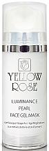 Parfumuri și produse cosmetice Mască-gel cu perle, pulbere de diamant pentru față - Yellow Rose Luminance Pearl Face Gel Mask