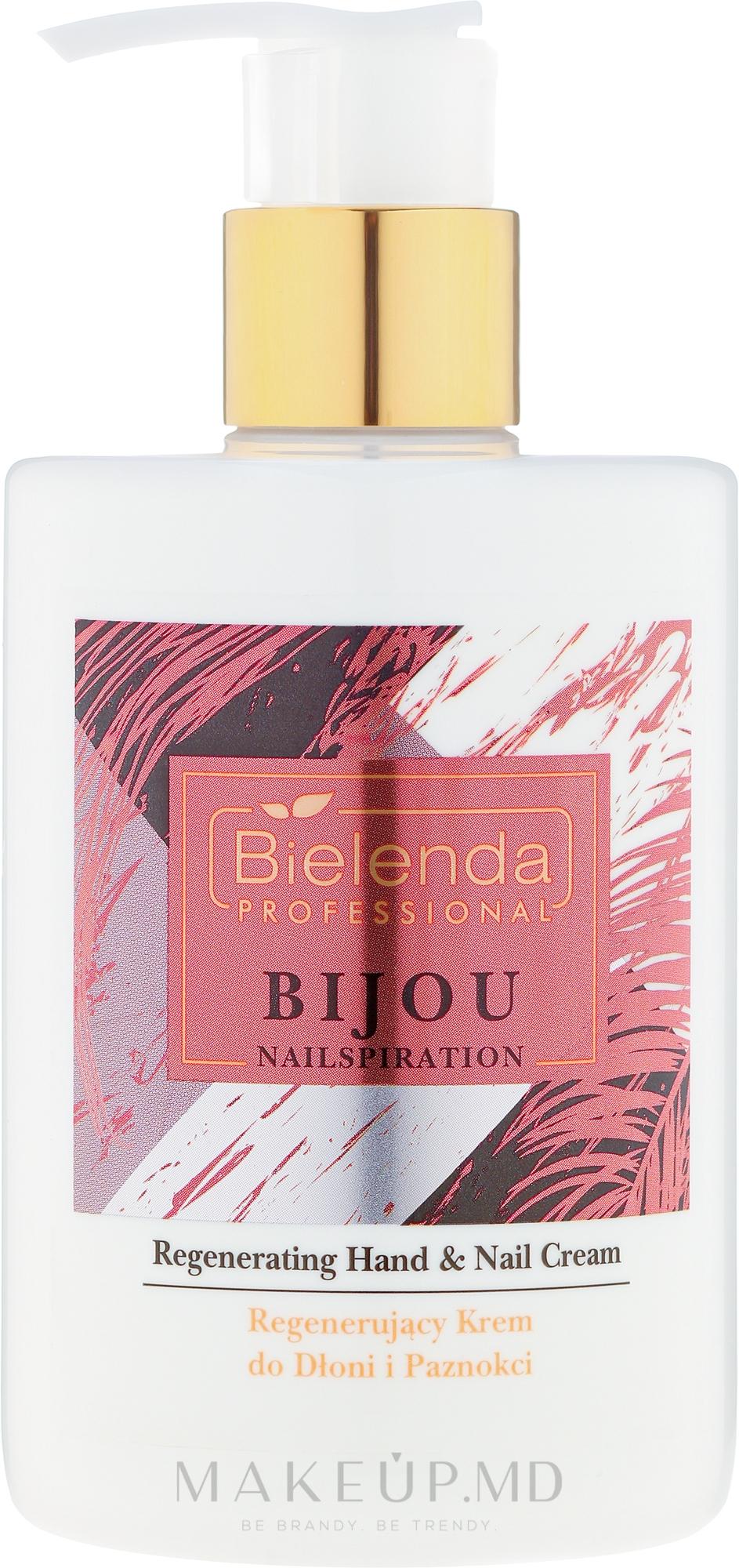Cremă pentru mâini și unghii - Bielenda Professional Nailspiration Bijou Regenerating Hand & Nail Cream — Imagine 300 ml
