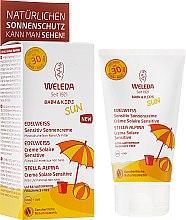 Parfumuri și produse cosmetice Lapte de protecție solară pentru pielea sensibilă - Weleda Edelweiss Baby&Kids Sun SPF 30