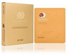 Parfumuri și produse cosmetice Mască de față cu mucus de melc - Petitfee & Koelf Gold & Snail Hydrogel Mask Pack