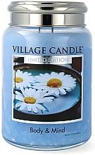 Parfumuri și produse cosmetice Ароматическая свеча в банке - Village Candle Spa Body & Mind