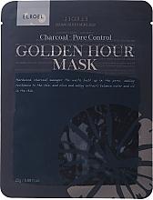 Parfumuri și produse cosmetice Mască din țesătură pentru față - Elroel Golden Hour Mask Charcoal Pore Control