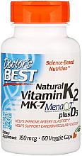 Parfumuri și produse cosmetice Vitamina K2 MK-7 cu MenaQ7 și D3, 180 mcg, capsule - Doctor's Best