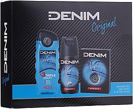 Parfumuri și produse cosmetice Denim Original - Set (ash/lot/100ml + deo/150ml + sh/gel/250ml)