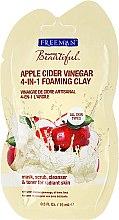 """Parfumuri și produse cosmetice Mască facială 4 în 1 """"Oțet din cidru de mere"""" - Freeman Feeling Beautiful 4-in-1 Apple Cider Vinegar Foaming Clay (miniatură)"""