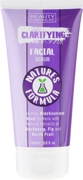 Скраб для лица - Beauty Formulas Natures Formula Clarifying Facial Scrub — фото N2