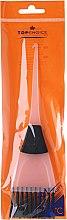 Parfumuri și produse cosmetice Pensulă pentru vopsirea părului, 65002, alb+negru - Top Choice