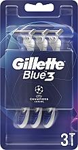 Parfumuri și produse cosmetice Set aparate de ras de unică folosință, 3 bucăți - Gillette Blue3 Comfort Football