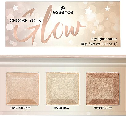 Paletă highlighters - Essence Choose Your Glow! Highlighter Palette