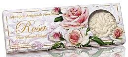 "Parfumuri și produse cosmetice Set săpunuri ""Trandafir"" - Saponificio Artigianale Fiorentino Rosa Scented Soaps (soap/3pcsx125g)"