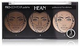 Parfumuri și produse cosmetice Paletă pentru counturing 3 nuanțe - Hean Pro-Countour Palette