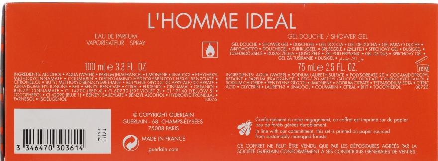Guerlain L'Homme Ideal - Set (edp/100ml+sh/g/75ml) — Imagine N2