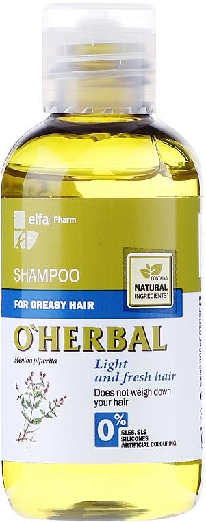 Șampon pentru păr gras cu extract de mentă - O'Herbal