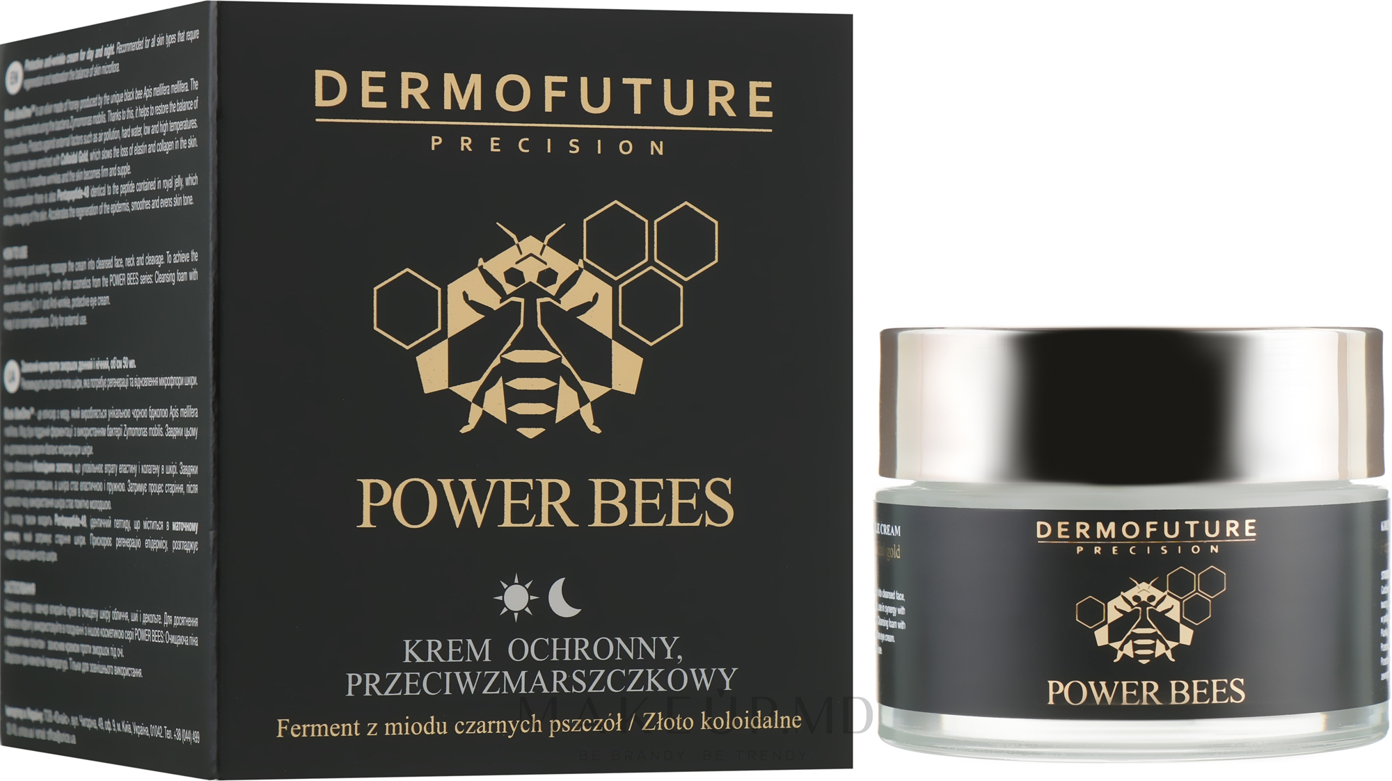 Cremă de față - Dermofuture Power Bees Protective Anti-wrinkle Cream — Imagine 50 ml