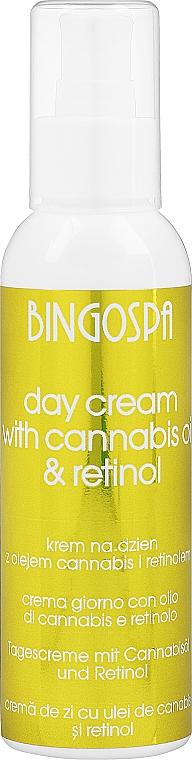 Крем с маслом конопли и ретинолом - BingoSpa Day Cream With Cannabis Oil Retinol And Zea Mays
