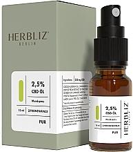 """Масляный спрей для рта """"Лимонная мята"""" 2,5% - Herbliz CBD Oil Mouth Spray 2,5% Lemon Mint — фото N2"""