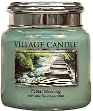 """Parfumuri și produse cosmetice Lumânare parfumată într-un borcan """"Dimineața pădurii"""" - Village Candle Forest Morning"""