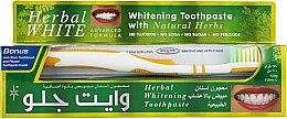 Parfumuri și produse cosmetice Set pentru îngrijirea dinților - White Glo Herbal White (t/paste/100ml + t/brush/1)