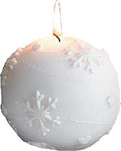 Parfumuri și produse cosmetice Lumânare decorativă, bilă albă, 12 cm - Artman Snowflake Application