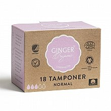 "Parfumuri și produse cosmetice Tampone fără aplicator ""Normal"", 18 bucăți - Ginger Organic"
