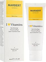 Parfumuri și produse cosmetice Cremă pentru ten uscat - Marbert I Love Vitamins Rich Vitamin Care