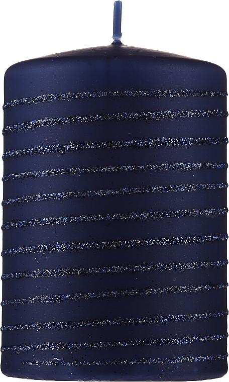 Lumânare decorativă, albastră 7x10cm - Artman Andalo — Imagine N1