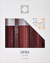 Parfumuri și produse cosmetice Set rujuri de buze, lichide, mate - Ofra Manny MUA Lip Set (lipstick/3x8g)