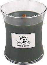 Parfumuri și produse cosmetice Lumânare parfumată în suport de sticlă - WoodWick Hourglass Candle Evening Bonfire
