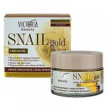 Parfumuri și produse cosmetice Cremă de zi cu extract de melc - Victoria Beauty Snail Gold Argan Oil Day Cream