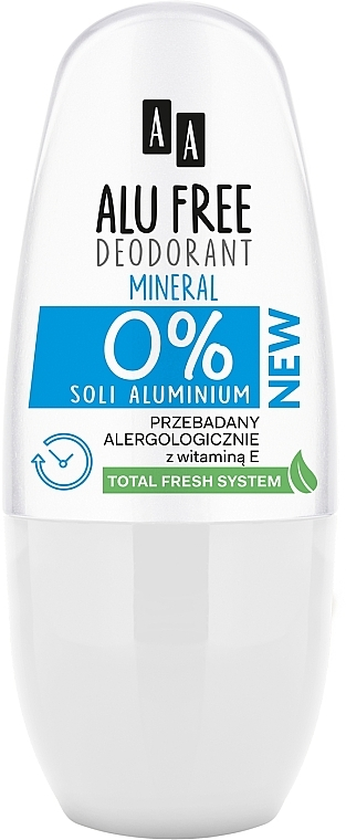 Deodorant - AA Roll-on Alu Free Mineral