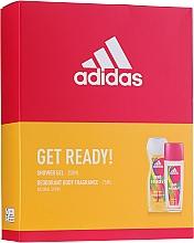 Parfumuri și produse cosmetice Adidas Get Ready! For Her - Set (deo/sp/75ml +sh/gel/250ml)