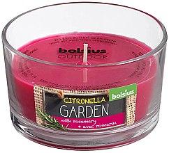 """Parfumuri și produse cosmetice Lumânare aromatică în sticlă """"Citronella Garden Rosemary"""", 62/106 mm - Bolsius Candle"""