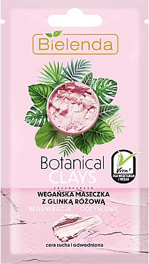 Mască pe bază de argilă roz pentru piele sensibilă și uscată - Bielenda Botanical Clays